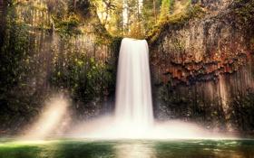 Картинка природа, водопад, гора