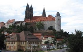 Картинка город, фото, замок, Германия, Albrechtsburg Meissen