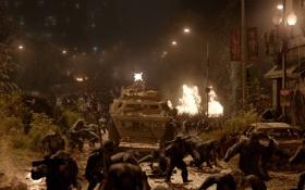 Обои город, война, улица, обезьяны, америка, сша, Планета обезьян: Революция