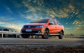 Обои Volkswagen, фольксваген, Saveiro Cross, савейро кросс