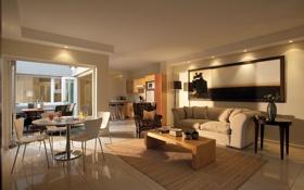 Обои дизайн, стиль, интерьер, квартира, жилая комната