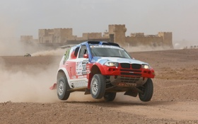 Картинка Авто, Дорога, Пыль, BMW, Rally, Dakar, Дакар
