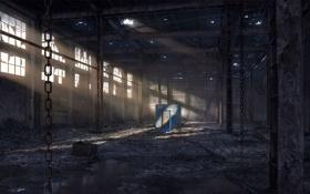 Обои игра, дверь, game, заброшеное здание, The Secret world