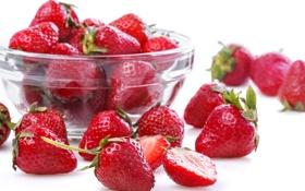 Обои миска, strawberries, bowl, клубники, свежие ягоды, fresh berries