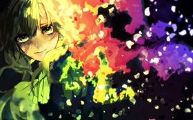 Картинка девушка, краски, слезы, арт, mary, nakasuwa, suwako