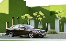 Обои Авто, Машина, день, Здание, Седан, Mercedes, Mercedes Benz