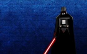 Картинка полосы, Star Wars, Звездные войны, Darth Vader, Дарт Вейдер, лазерный меч, темно-синий фон