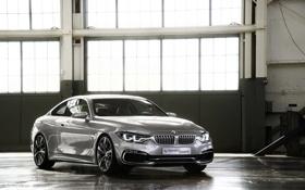 Обои Concept, Авто, BMW, БМВ, Серебро, Фары, Coupe