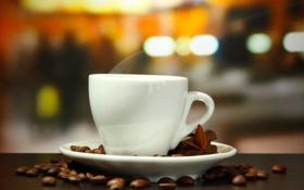 Обои кофе, шоколад, корица, кофейные зерна, аромат