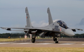 Обои истребитель, аэродром, многоцелевой, Su-30