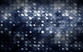 Картинка круги, синий, абстракция, стена, темный, кирпич, текстура