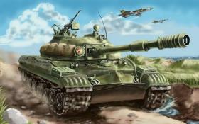 Обои оружие, война, самолеты, танки