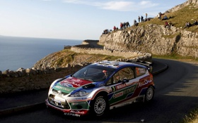 Обои Ford, Море, Дорога, Машина, День, WRC, Rally