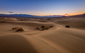 Обои desert, mountain, sand, sunrise, dawn, dunes