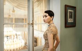 Обои Tatiana Mercalova, платье, Карина Ким, причёска