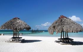 Картинка песок, море, пляж, берег, summer, beach, sea