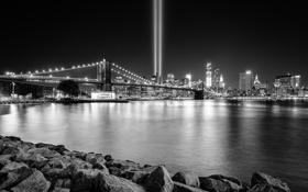 Обои прожектор, катастрофа, memorial, мост, сентябрь, 11.09, трагедия