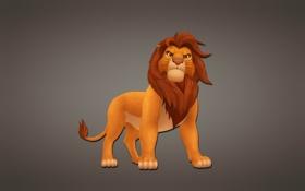 Картинка темный фон, Король Лев, Симба, дисней, disney, The Lion King