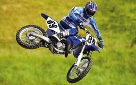 Картинка мотоциклы, мото, Yamaha, moto, motorcycle, кросс