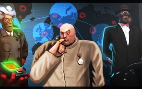 Обои team fortress 2, sfm, source filmmaker, Dr. Evil, austin powers