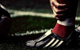 Обои футбол, нога, бутсы