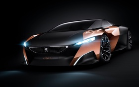 Обои car, Concept, Peugeot, black, Onyx