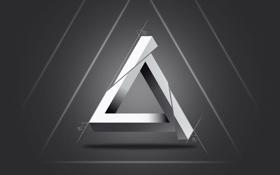 Картинка линии, серый, углы, Треугольник