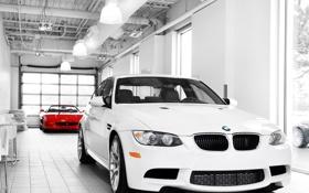 Обои Белый, BMW, 3 series
