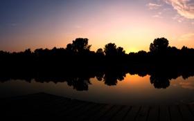 Обои небо, вода, деревья, фото, пейзажи, обои для рабочего стола