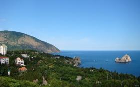 Обои природа, отдых, Море, Аю-Даг, гора