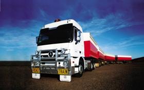 Обои обои, Mercedes-Benz, грузовик, wallpaper, мерседес, прицеп, автопоезд