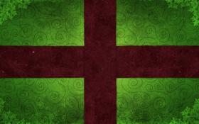 Обои подарок, праздник, зеленый