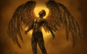 Картинка art, square enix, deus ex, adam jensen, icarus, Deus Ex Human Revolution