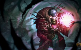 Обои art, Rift Hunter, Voodoo Jester, Heroes of Newerth, hon, moba