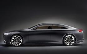 Картинка Hyundai, Concept, HCD-14, Genesis, машина, вид сбоку, концепт