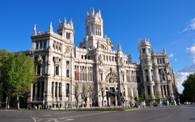 Картинка площадь, Испания, центр, Мадрид