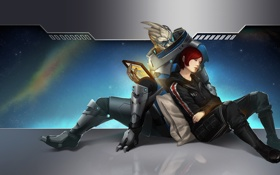 Картинка mass effect, shepard, шепард, fan art, garrus, гаррус