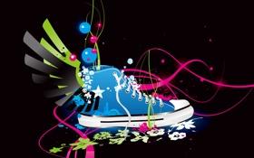 Картинка обувь, кеды, арт, разное