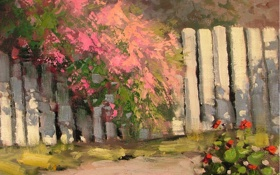 Картинка арт, Sean Wallis, Fence Adorned