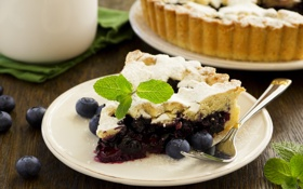 Картинка сладость, выпечка, cakes, sweets, вена черничный пирог, Vienna blueberry pie