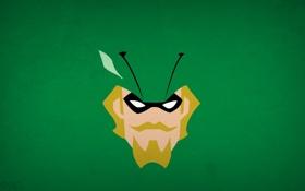 Обои минимализм, Green Arrow, blo0p, Justice League