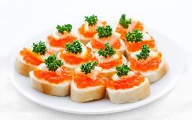Картинка хлеб, икра, бутерброды