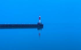 Обои море, пейзаж, маяк
