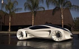 Обои машина, авто, улица, стоянка, mercedes, concept car, цвет белый