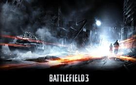 Обои Война, Солдаты, Танк, Battlefield 3, Electronic Arts, Конфликт