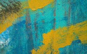 Обои краска, жолтый, синий