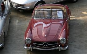 Картинка ретро, Mercedes, Benz, классика, 300SL
