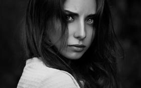 Картинка портрет, black and white, Natalya