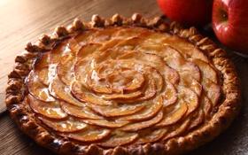 Обои яблоки, пирог, аппетитный