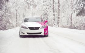 Обои зима, снег, lexus is250